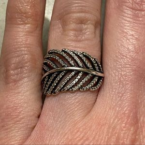 Pandora Light as a Feather Ring Size 50 (Size 5)